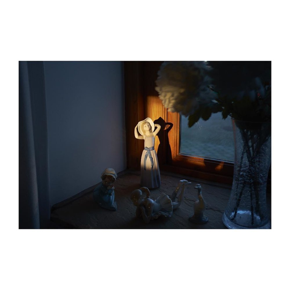 – – – – – – – – – – #figure #sunlight #contrast #window #fuji #35mm #23mm #rangefinder #framed #dancing #woman #figures #flowers width=