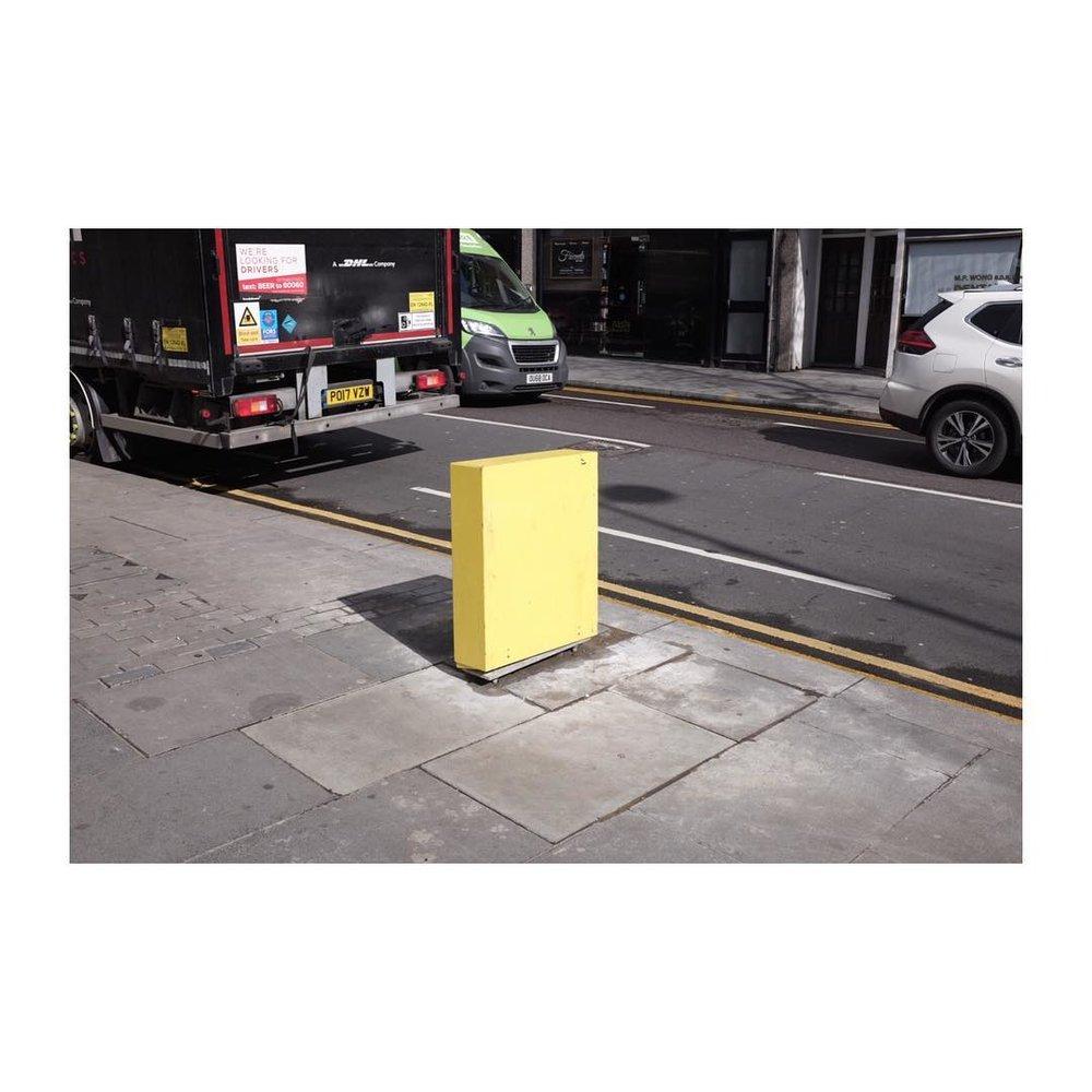 Yellow  – – – – – – – – – – – #contrast #colour #shape #fuji #onlocation #walthamstow #personal #crisp #noicemagazine #streetart width=