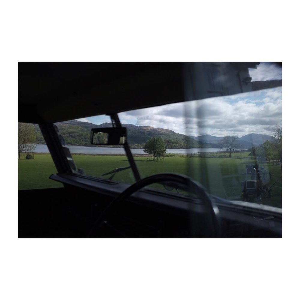 See ya Scotland ️ -> HRW – – – – – – – – – – – #scotland #wrapped #filming #onlocation #travelgram #irnbru #landrover #windowl width=
