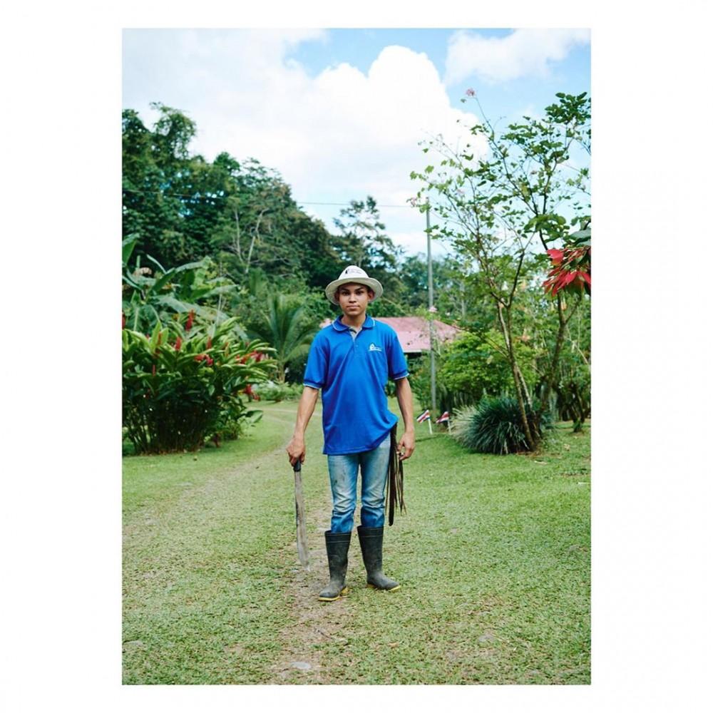Worker at Finca Educativa – Costa Rica – width=